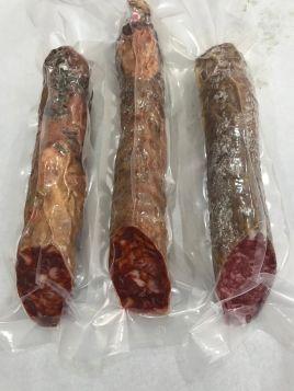 Lote 3 piezas de salchichón y/o chorizo cular de campaña 5@